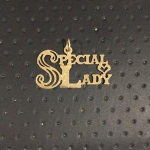 Jewelry - 14k Yellow Gold Special Lady Flat Light Charm
